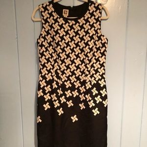 Anne Klein Patterned Work Dress, Size 8
